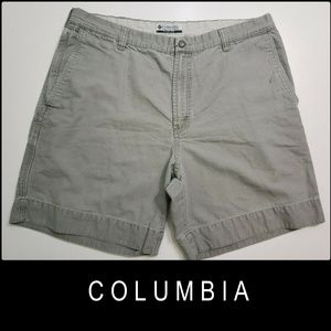 Columbia Men Flat Front Casual Outdoor Short 38
